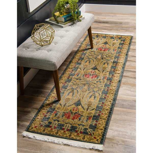 Unique Loom Carnation Edinburgh Runner Rug - 2' 7 x 10'