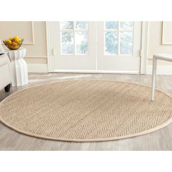 Safavieh Casual Natural Fiber Natural / Beige Seagrass Rug - 8' x 8' Round