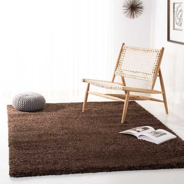 Safavieh California Cozy Plush Brown Shag Rug - 5'3' x 7'6'