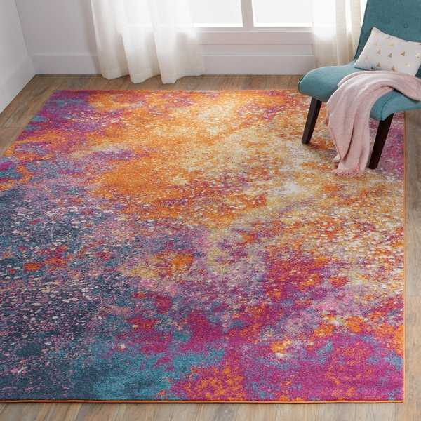 Nourison Passion Sunburst Area Rug - 5'3 x 7'